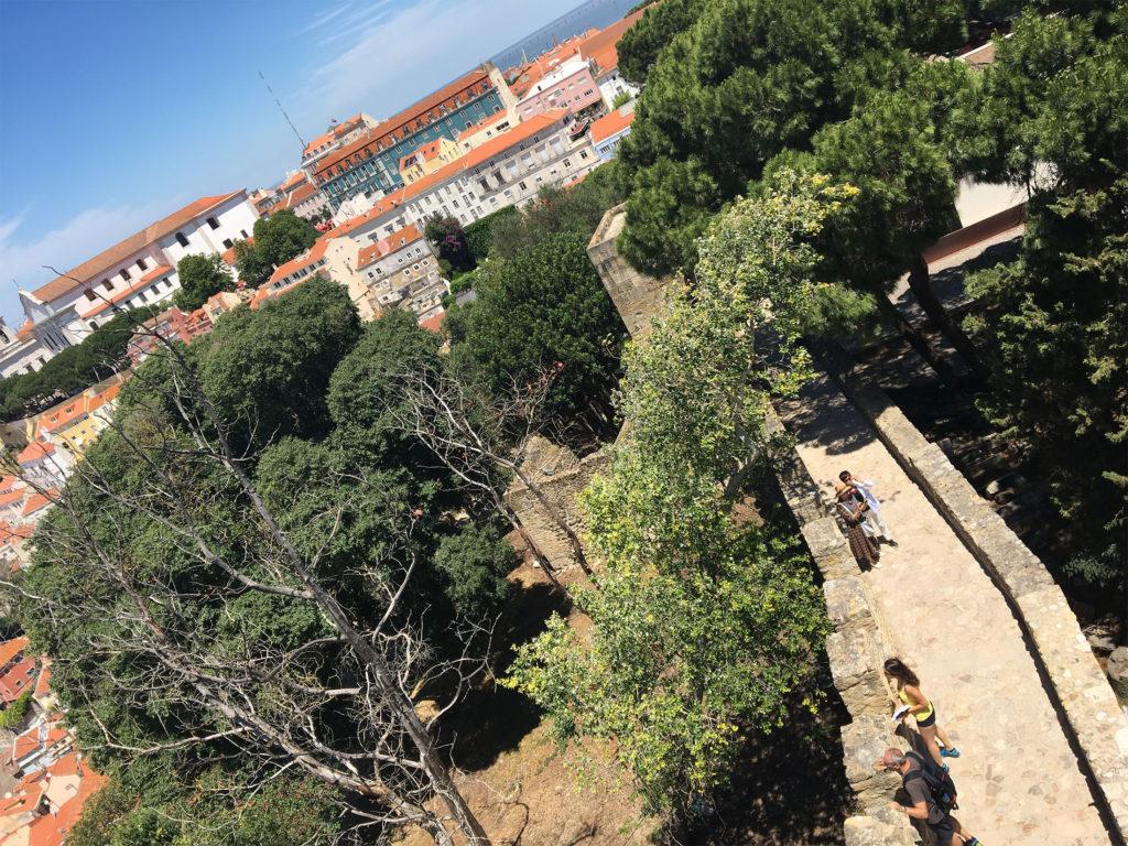 view from Castello san jorge lisbon