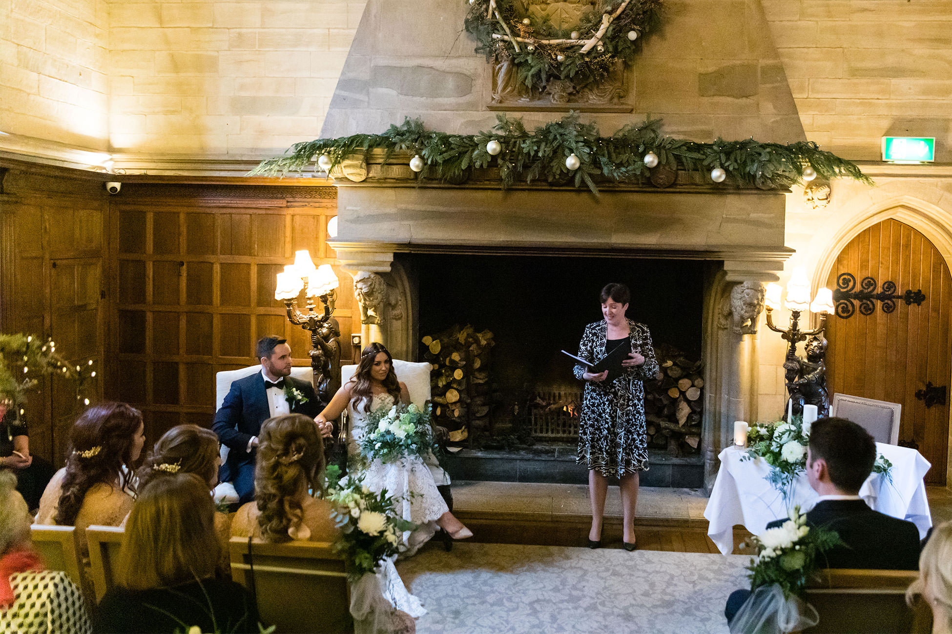 Waterford Castle Christmas Wedding Ceremony Photography Katie Kav