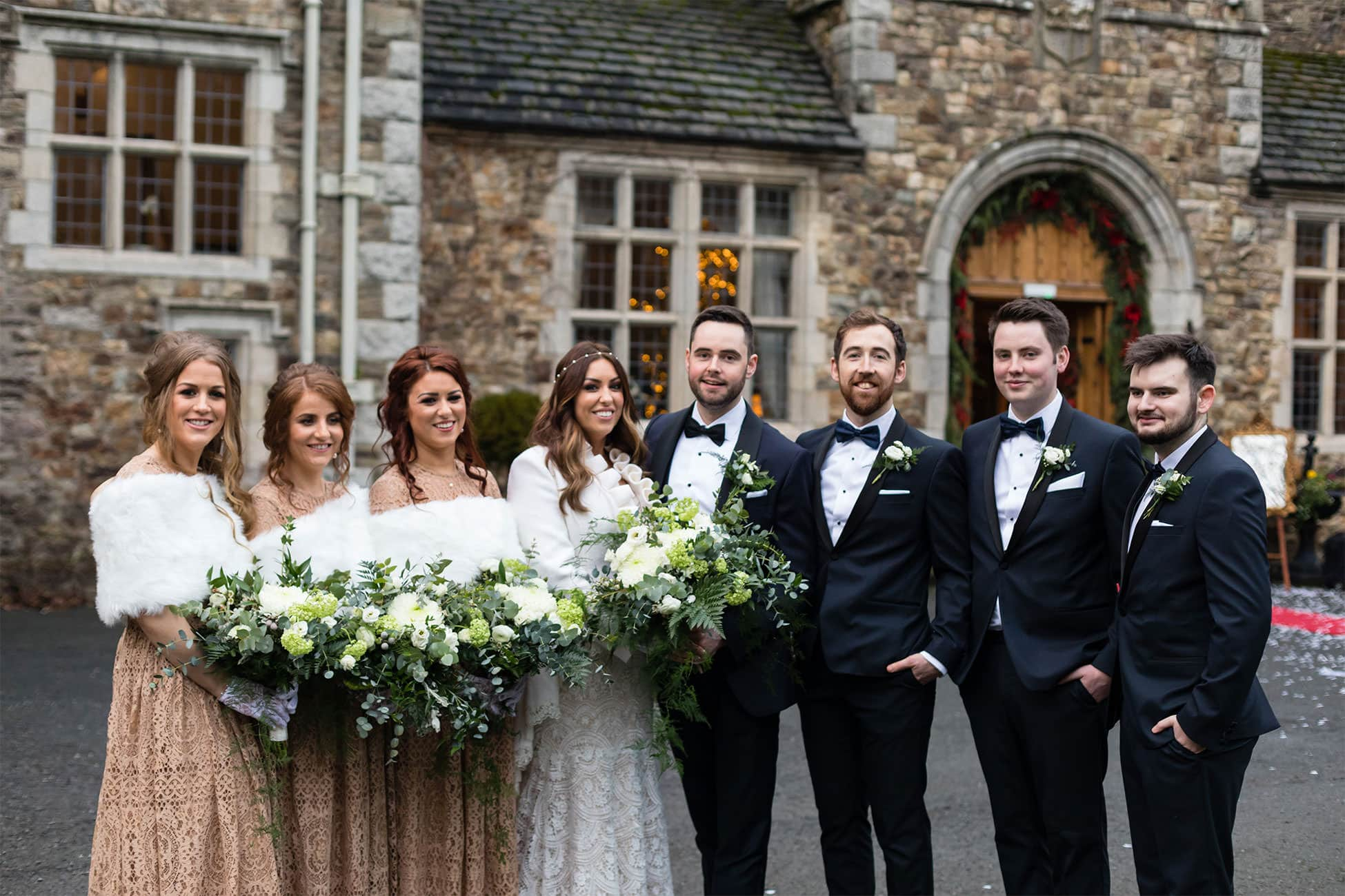 bridal party waterford castle wedding photography