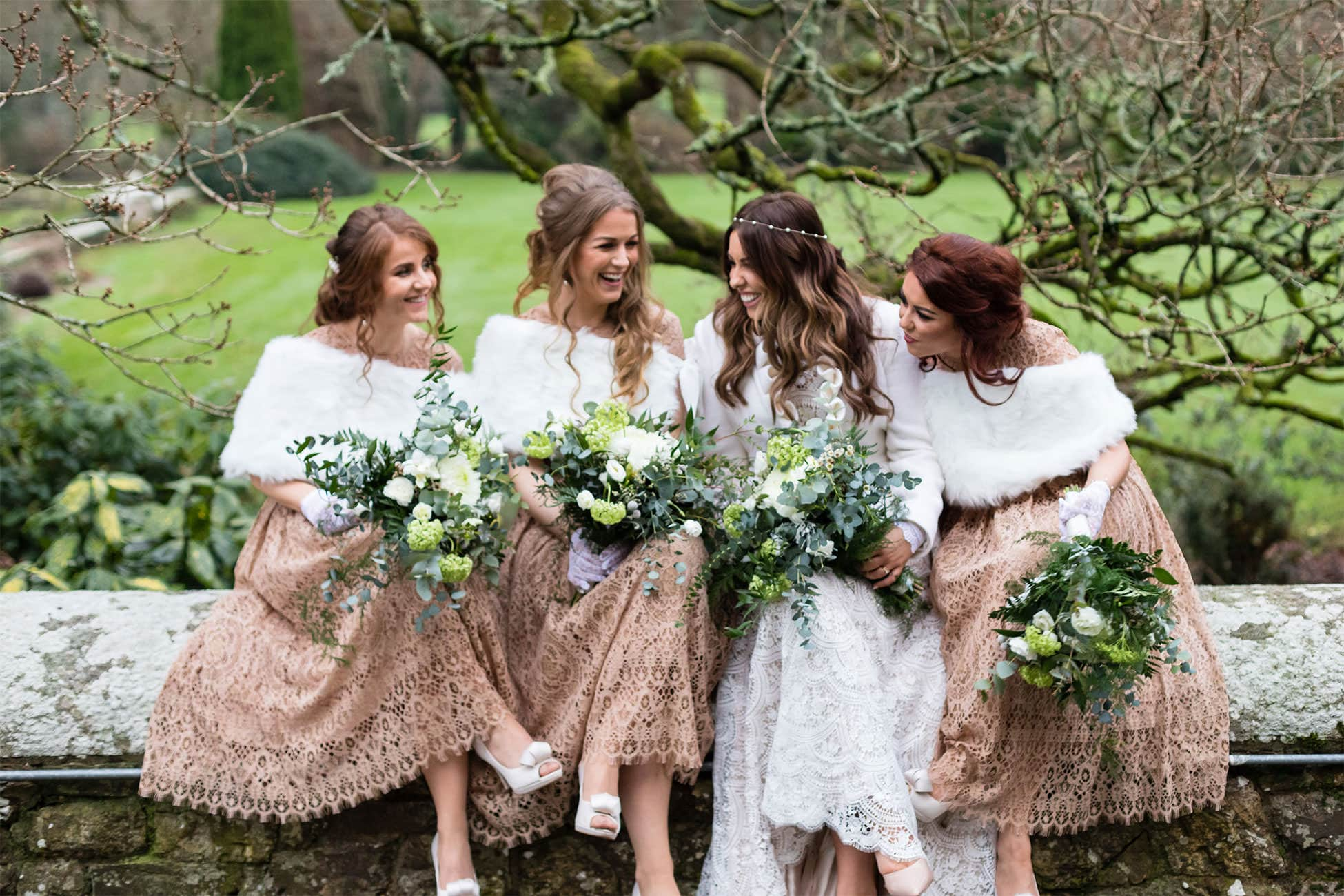 bridesmaids waterford castle wedding photography