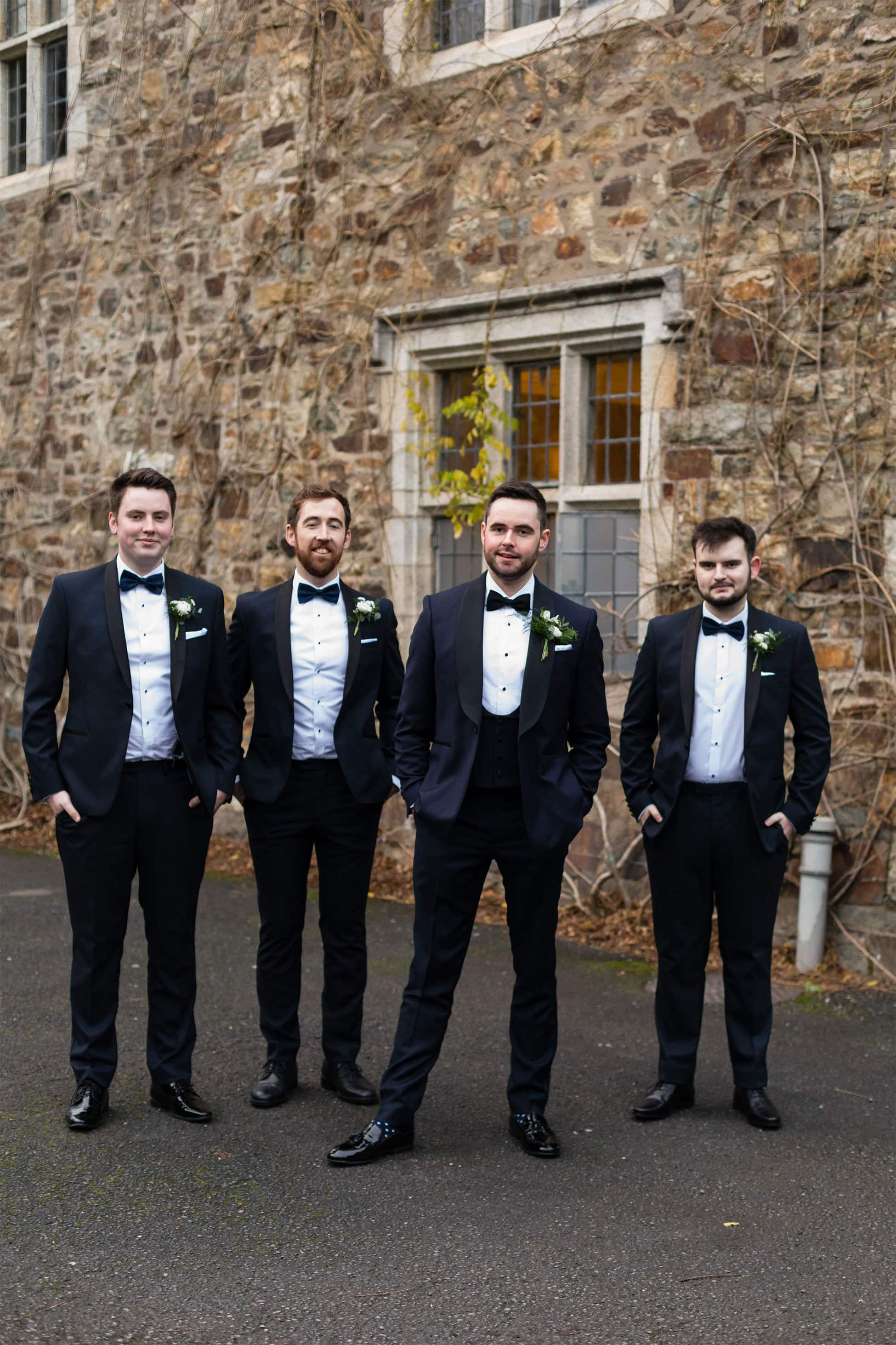 groomsmen waterford castle wedding photography