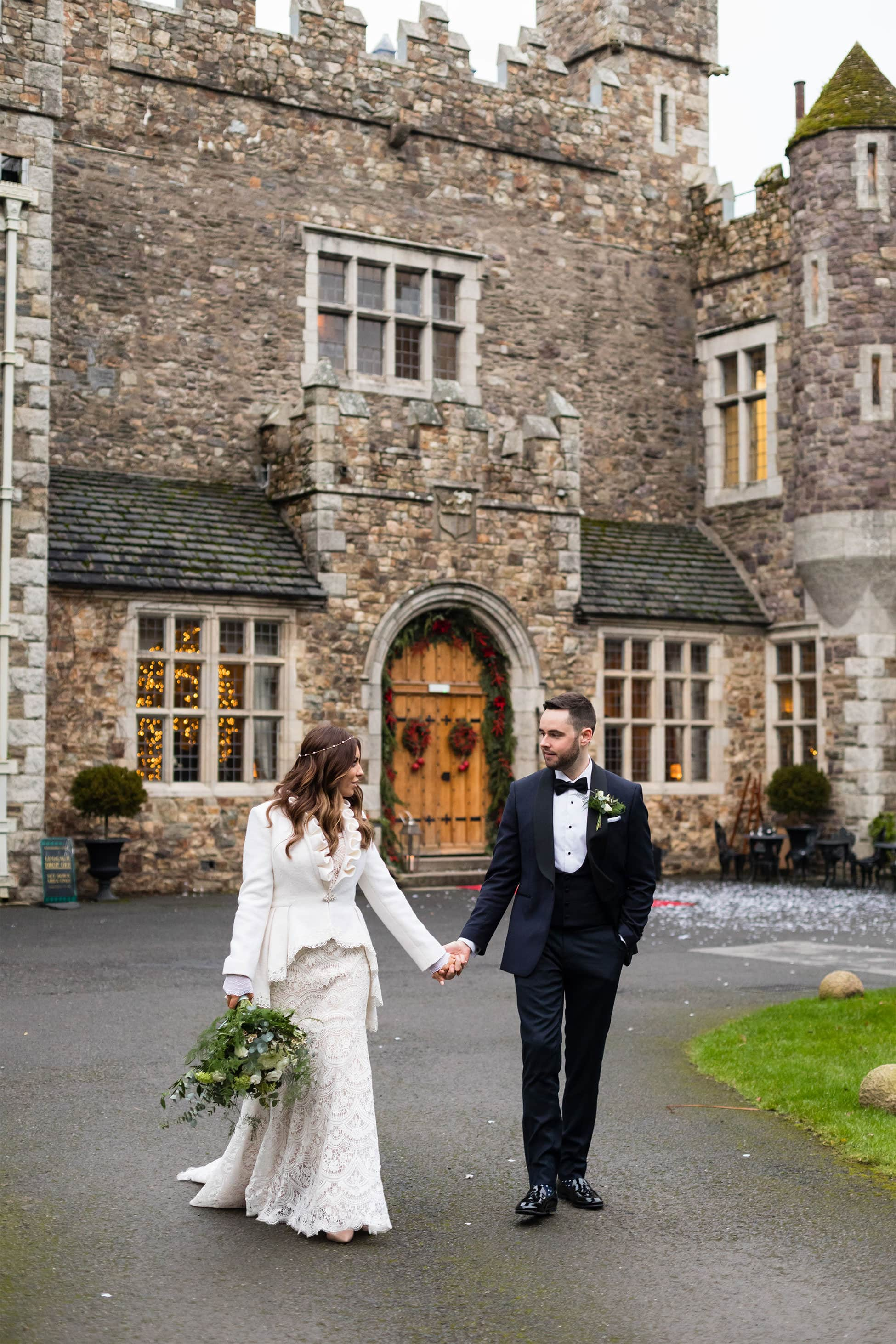 bride and groom pictures waterford castle wedding photography