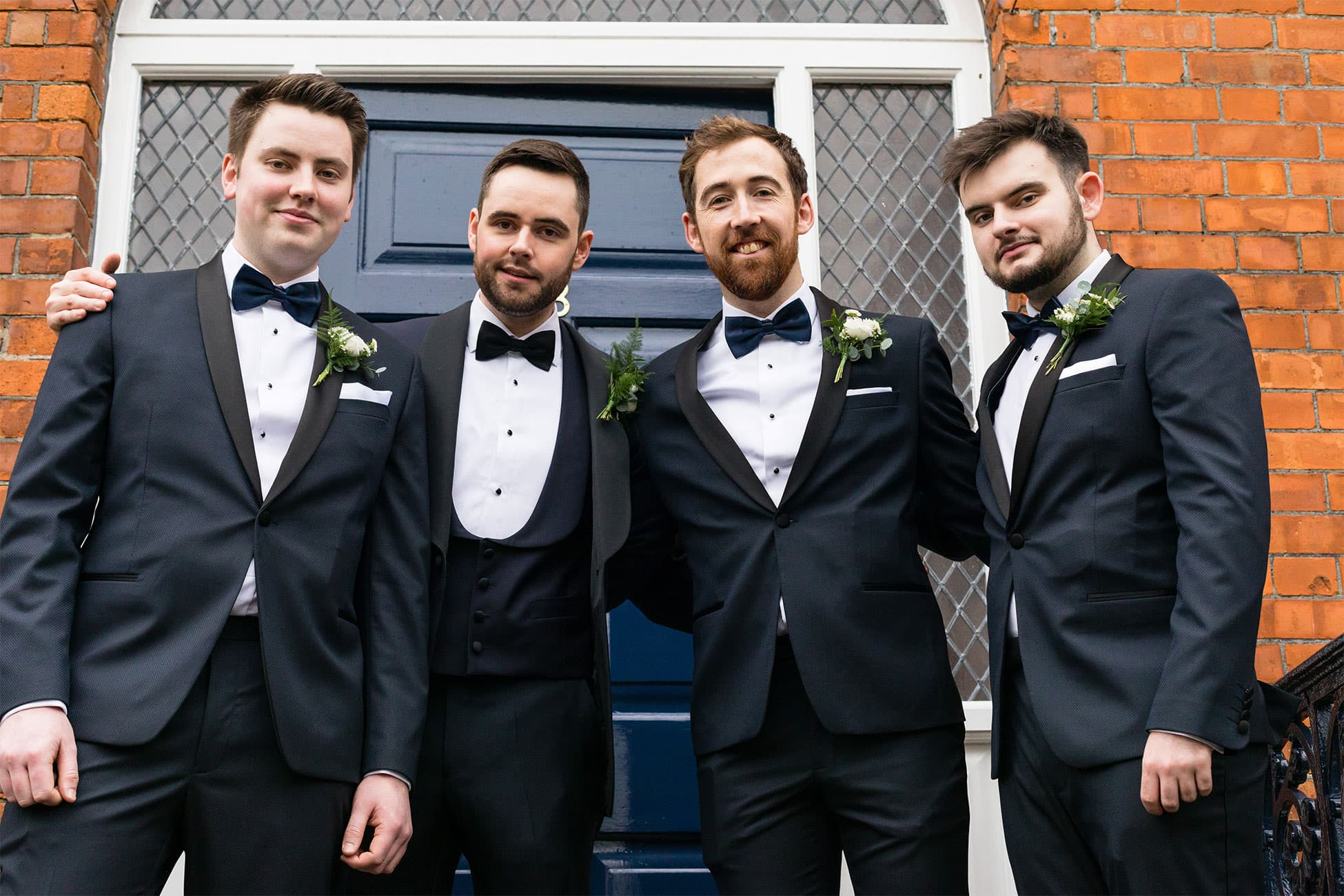 groomsmen style formal tux