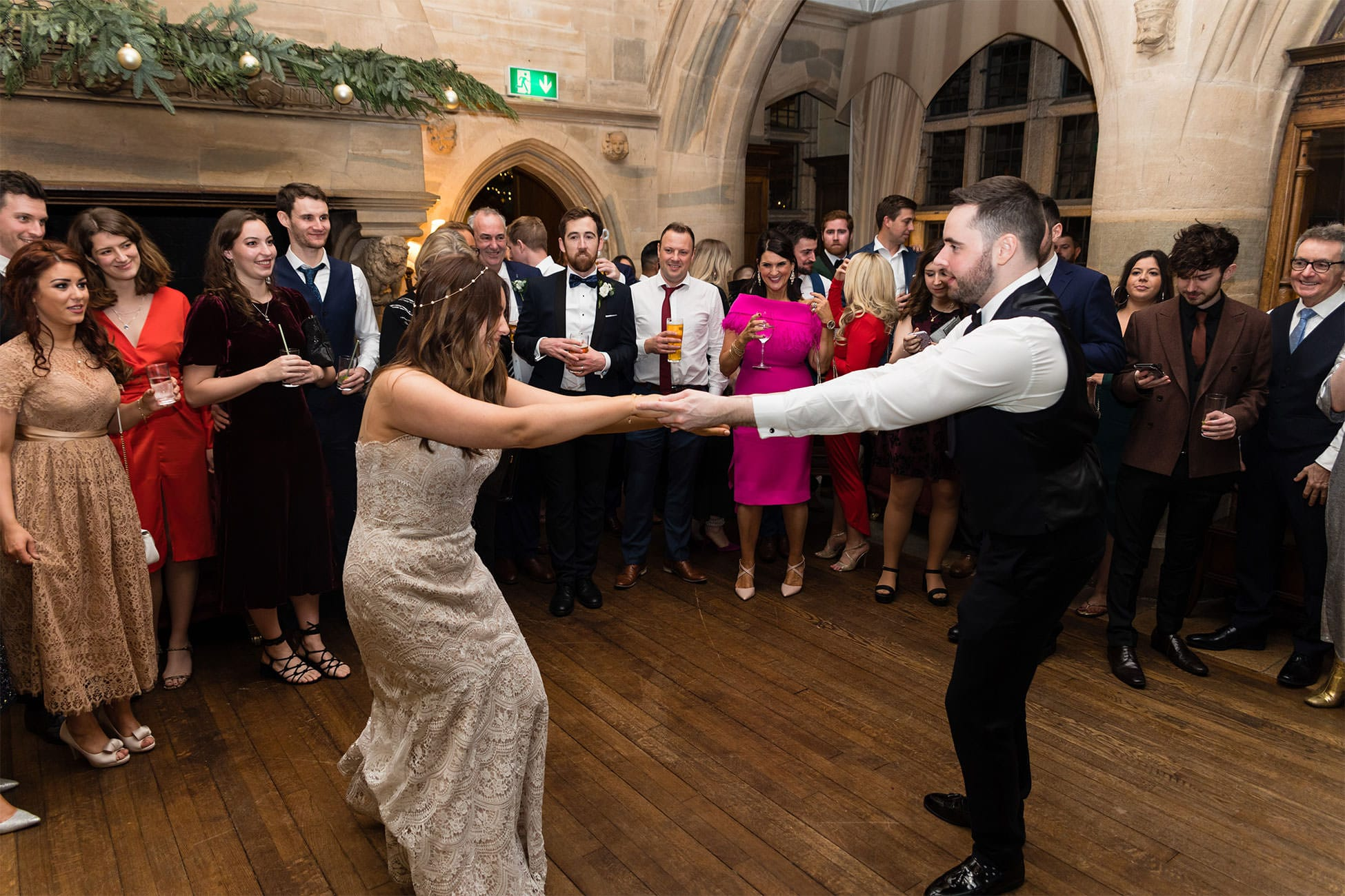 waterford castle wedding reception photography
