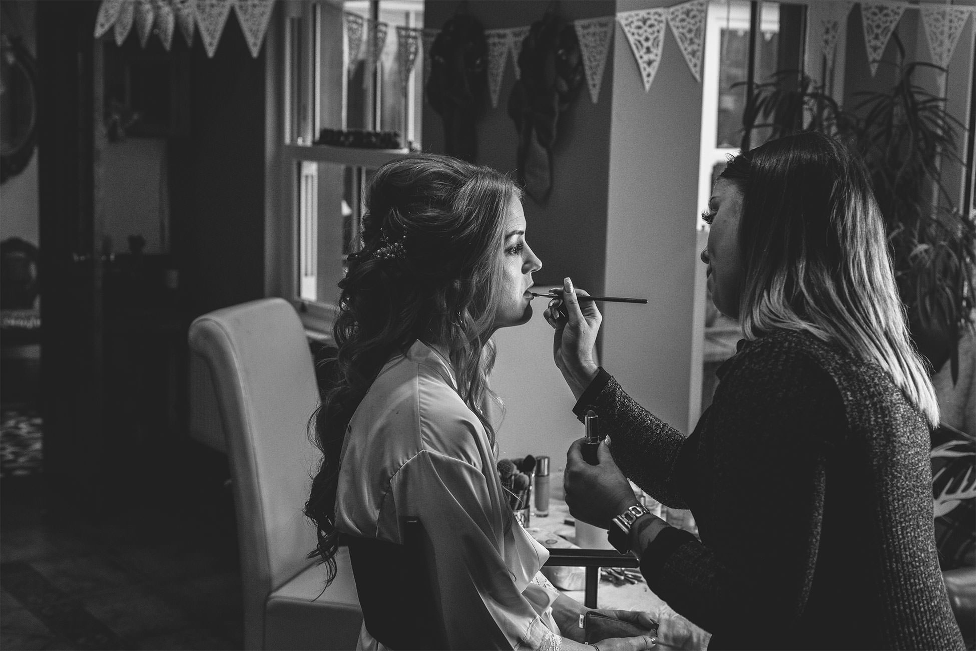 bridal party prep photos kerry ryan makeup