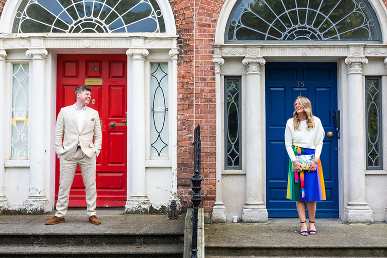 relaxed dublin city centre wedding photographer