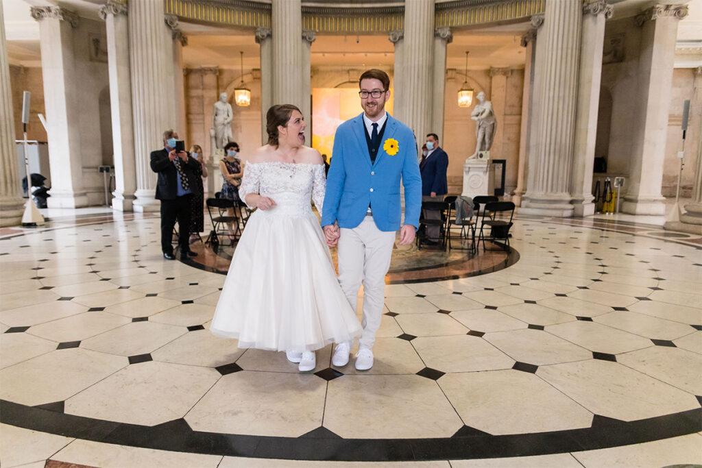 Socially Distanced Covid 19 Wedding at City Hall Dublin
