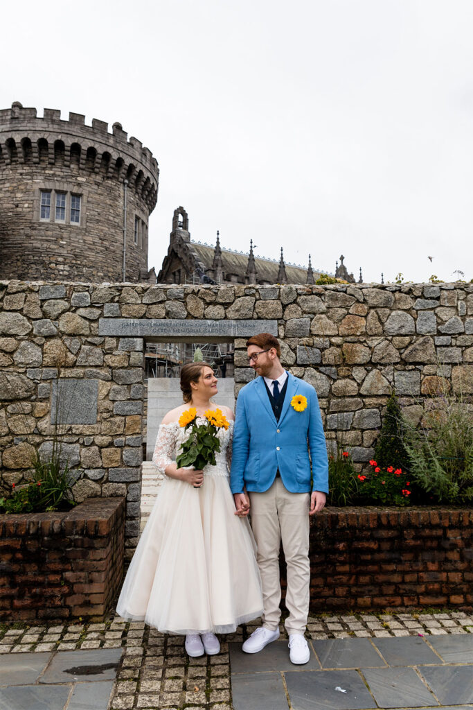 First Look Wedding Photographer Dublin Castle
