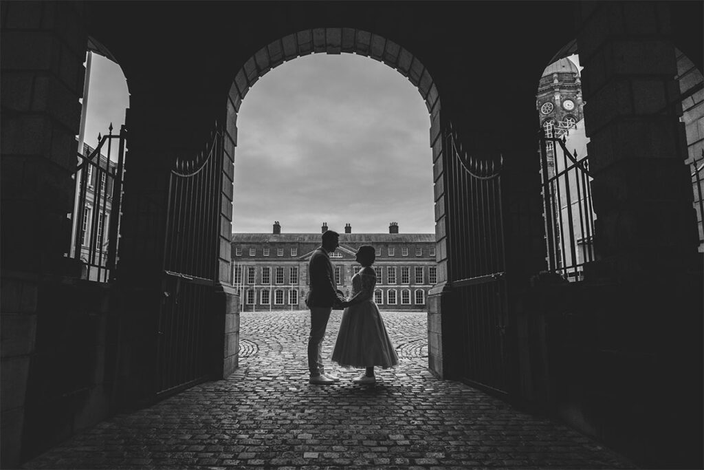 First Look Wedding Photography Dublin Castle