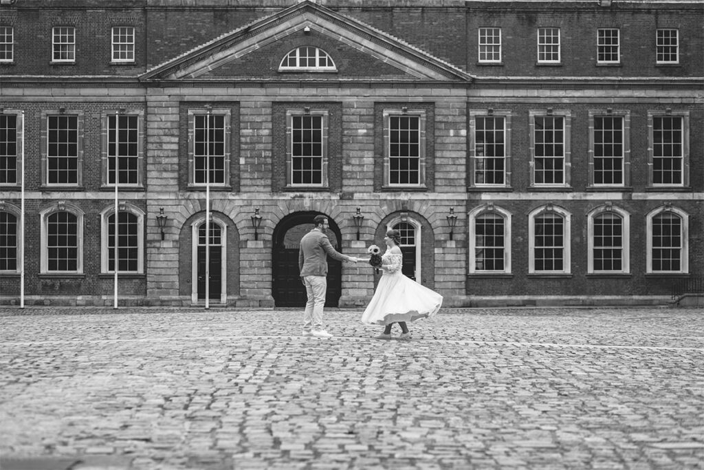First Look Wedding Photography Dublin City Hall