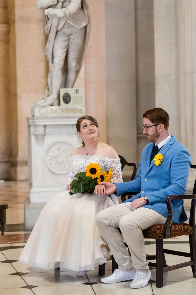 Socially Distanced Covid 19 Wedding Ceremony at City Hall Dublin
