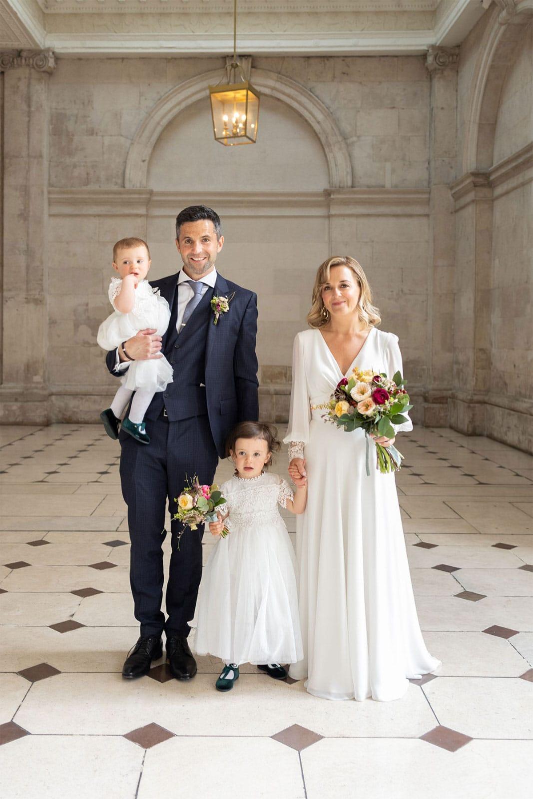 Family photos Dublin City Hall Shelbourne Hotel Wedding