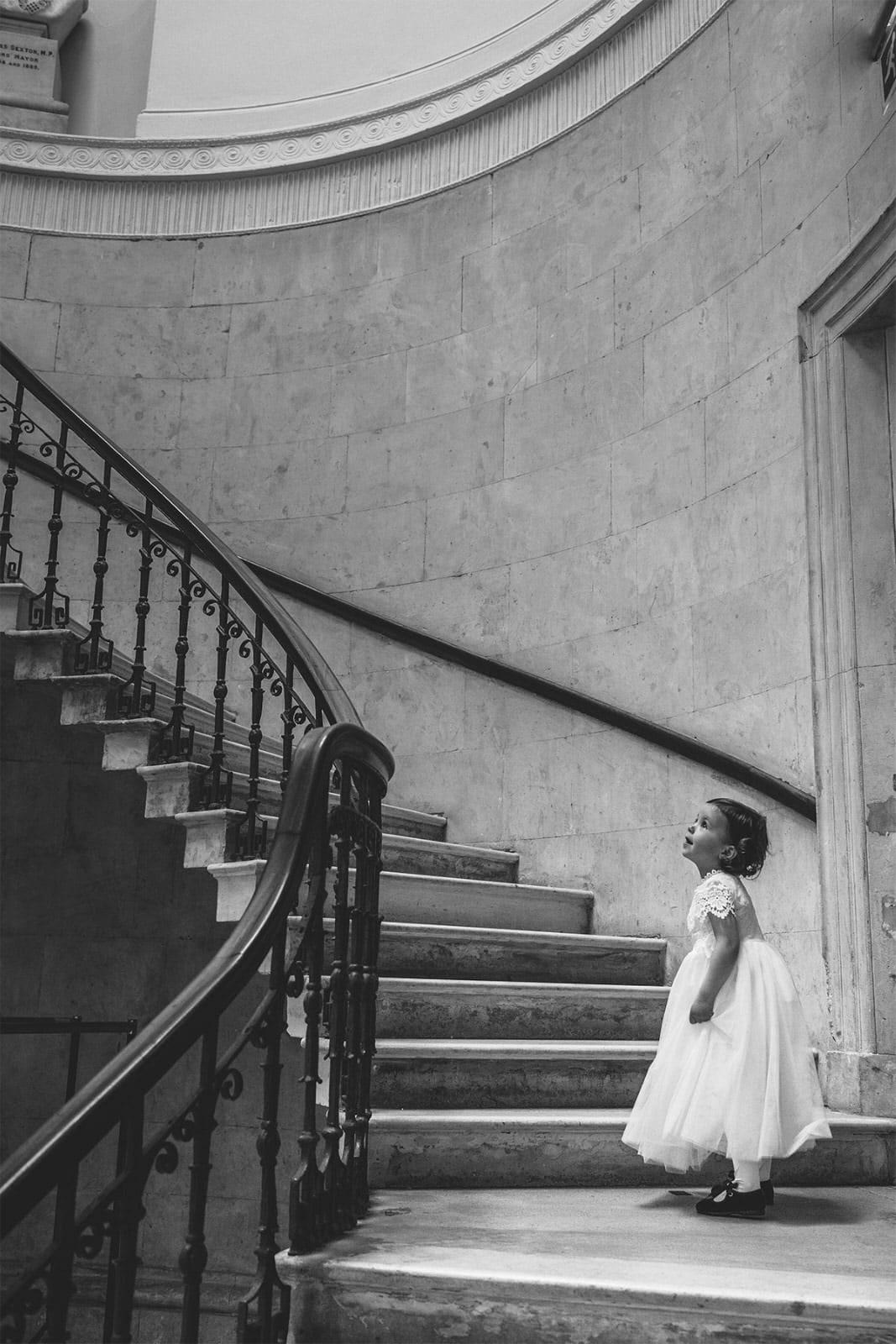 the magic stairs Dublin City Hall Shelbourne Hotel Wedding