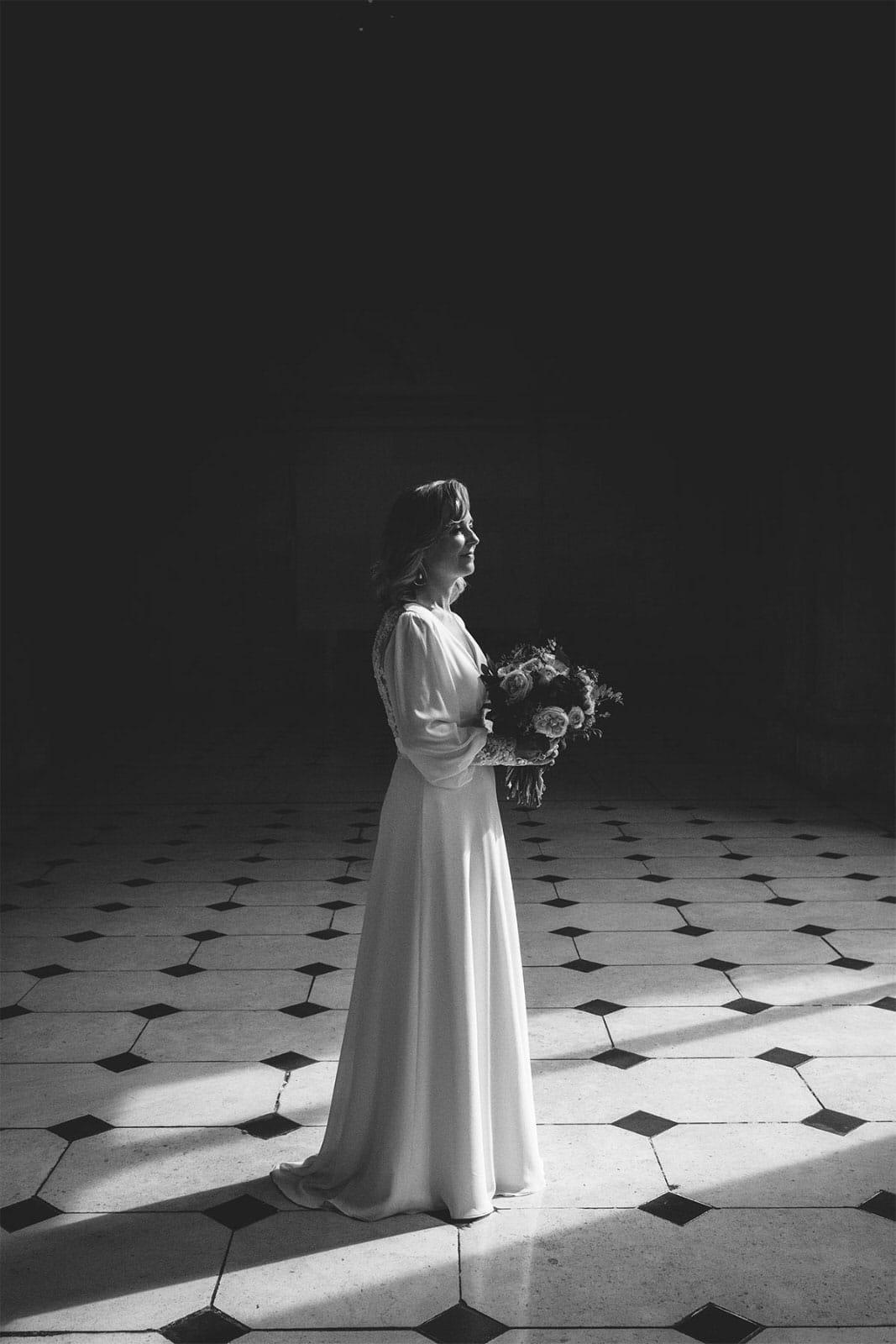 Bride at Dublin City Hall Shelbourne Hotel Wedding