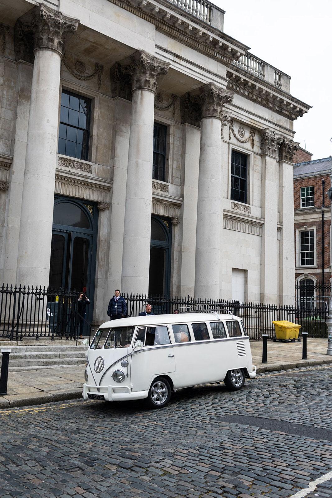 VW Bus Wedding City Hall