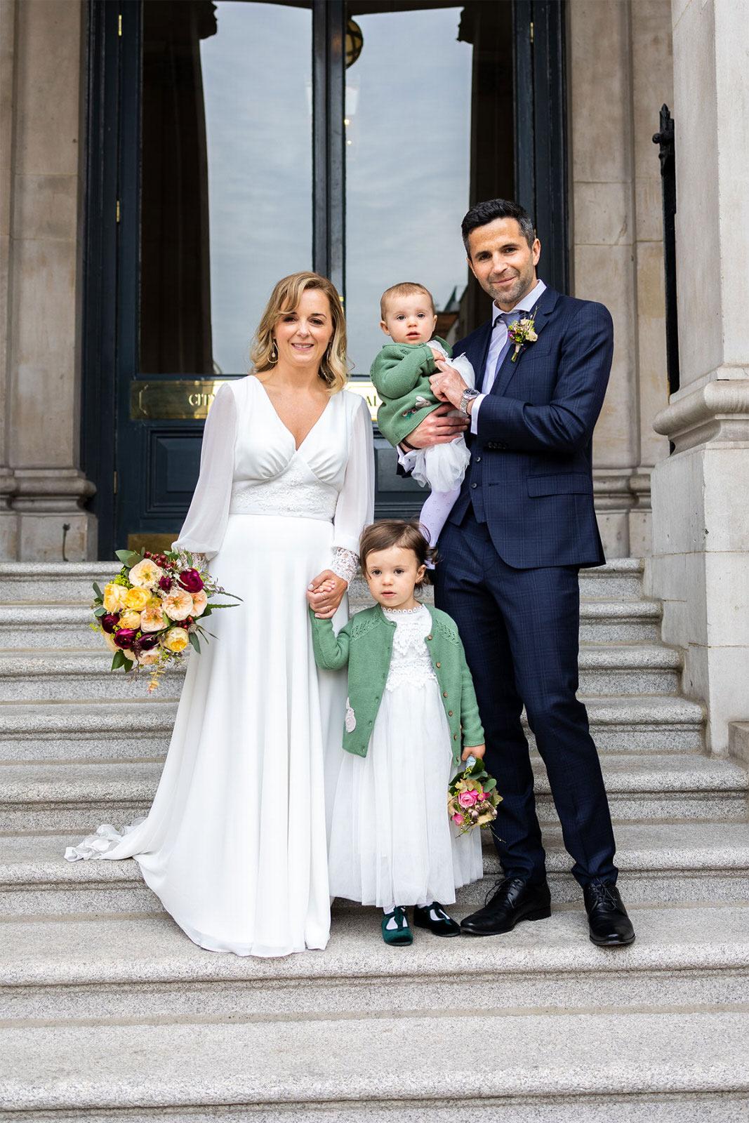 family Dublin City Hall Shelbourne Hotel Wedding