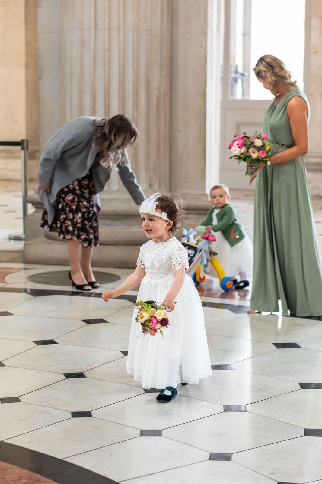 Flower girl entry Dublin City Hall Wedding