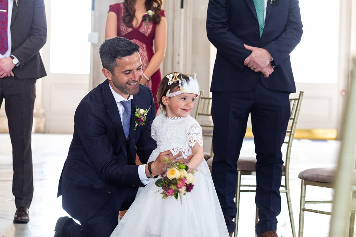 groom and daughter Dublin City Hall Wedding