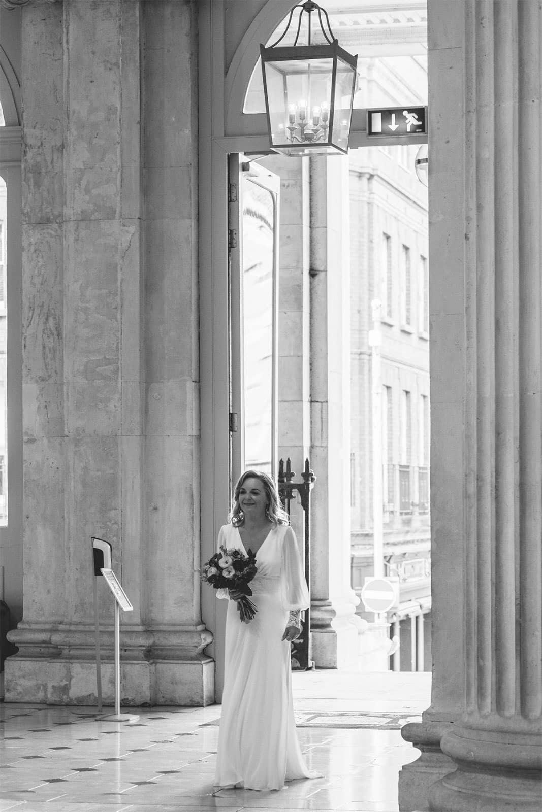 Brides entrance Dublin City Hall Wedding
