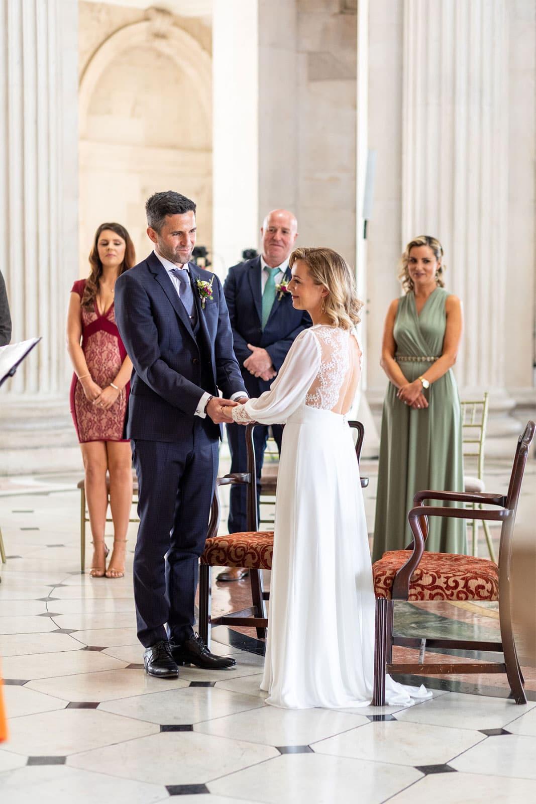 vows Dublin City Hall Wedding