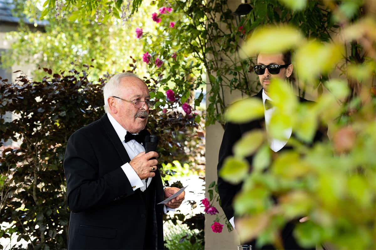 Coolbawn Quay Wedding Photographer - outside speeches