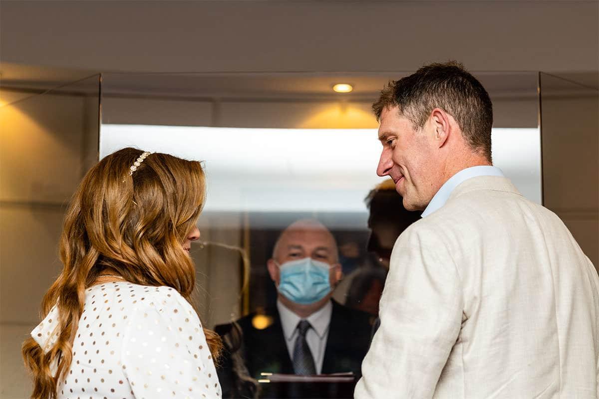 Dublin city registry office wedding ceremony