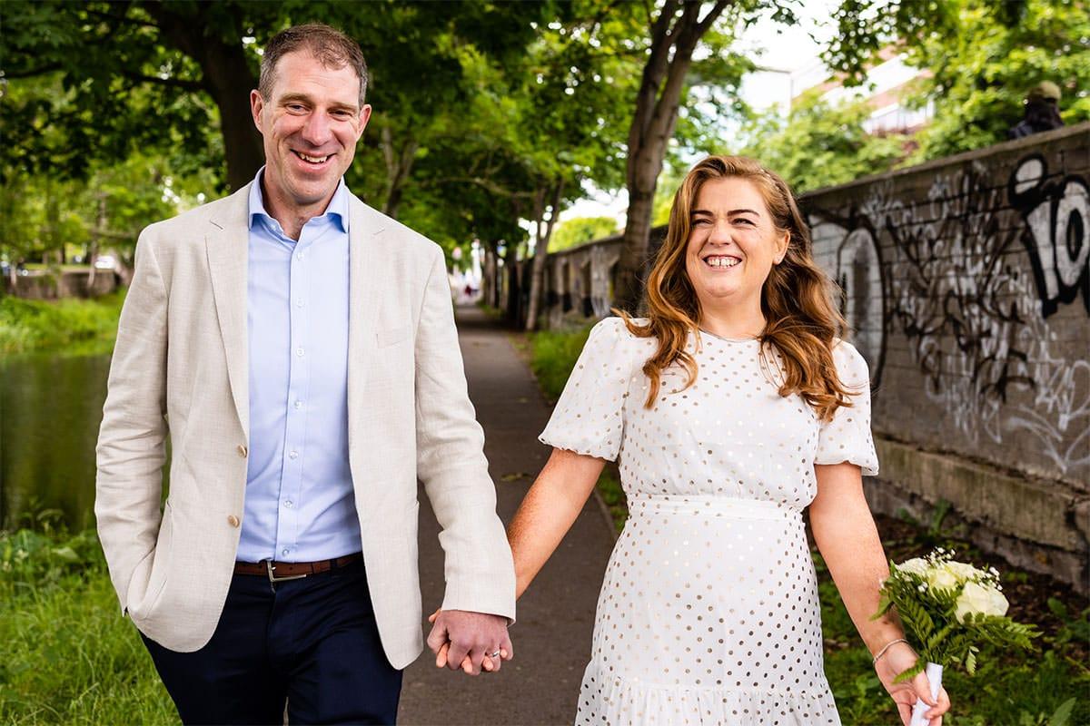 Grand Canal Dublin City Wedding Photos