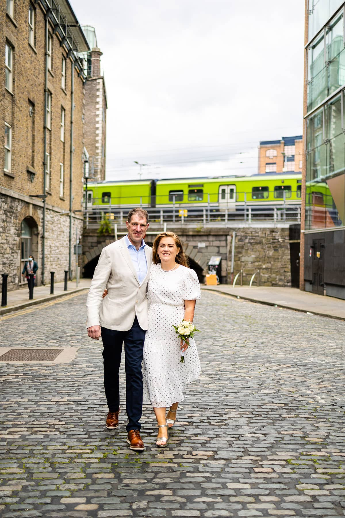 Grand Canal Dock Dublin City Wedding Photos DART